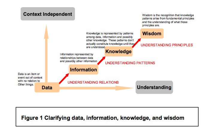 Data Information Knowledge & Wisdom Chart