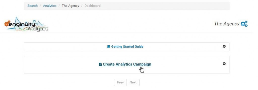 How to Create Enginuity Analytics Campaign